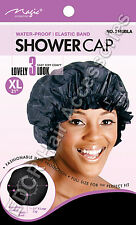 "Thick Shower Cap Water Proof  Magic Collection X-Large 21"" #2160BLK"