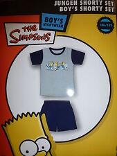 Simpsons Bart Fußball Jungen Set kurzarm Shirt + kurze Hose blau Gr.146/152 -NEU