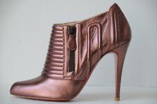 Nuevo Christian Louboutin Sigourney Rosa Malva Lila Zapatos Botas 38.5 37.5