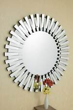 Large Wall Mirror 4Ft 120cm) Contemporary Exclusive 3D Sunburst All Glass Round