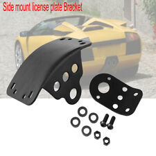 Black Motorcycle Side Mount License Plate Taillight Bracket Durable Solid metal