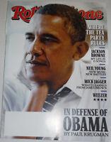Rolling Stone Magazine Barack Obama & Mick Jagger October 2014 120514R