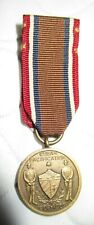 Vintage Cuban Pacification Bronze Army Mini Medal 1906-1909