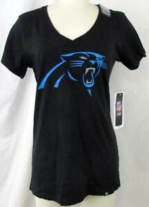 Carolina Panthers Womens Small - X-Large Screened Panthers Logo T-Shirt ACPN 72