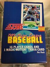 1989 SCORE BASEBALL BOX 36 Packs Per Box