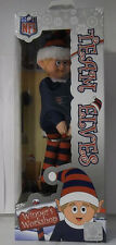 "New England Patriots NFL TEAM Logo Elf Christmas 9"" Red Blue Forever Xmas Shelf"