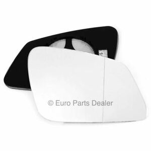 Driver Side WIDE ANGLE HEATED WING DOOR MIRROR GLASS BMW 3 F30 2012-19 Clip On