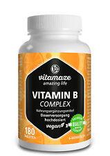 Vitamin B Komplex hochdosiert vegan 6 Monatsvorrat Made in Germany