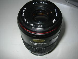 MINOLTA AF, SONY ALPHA FIT 70-210MM F4/5.6 TOKINA SD ZOOM LENS FILM/DIGITAL