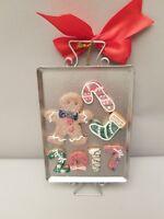 Holiday Lane 2017 Baking Sheet Ornament Gingerbread Candycane Ribbon