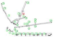 BMW 3 E93 Essieu avant Droit V-Strut Support 51617135654 7135654 Neuf Original
