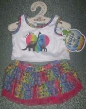 New Build-A-Bear Dino Love Rainbow Tiered Skirt Outfit Apatosaurus