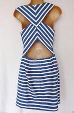 Plus Size Striped V Neck Sleeveless Dresses for Women