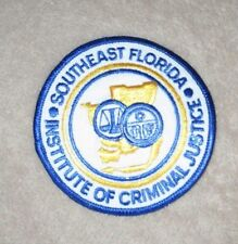"Southeast Florida Institute of Criminal Justice Patch - 3 1/2"" x 3 1/2"""
