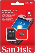 50 x SanDisk 16GB 16G MicroSD SDHC Micro SD SDHC Memory Card SDSDQM-016G Adapter