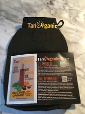 TAN ORGANIC EXFOLIATING GLOVE W SELF TANNING OIL 5ml SAMPLE. BNWOT.
