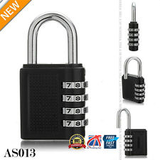 4 Digit Combination Padlock Black Number Luggage Travel Code Lock UK POST AS013