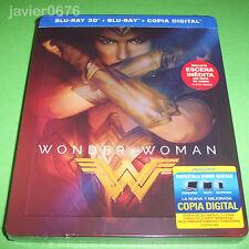 WONDER WOMAN BLU-RAY 3D + BLU-RAY NUEVO Y PRECINTADO EDICION STEELBOOK