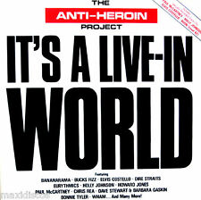 LPx2 - The Anti-Heroin Project - It's A Live-In World - V/A (EMI Spain 1986) NM