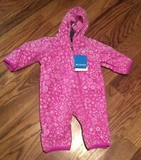 NWTs Columbia Infant Girls Fireside Cuddle Bunting Fleece Suit Pink Sz: 6-12 Mth