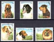 Chiens Afghanistan (1) série complète de 6 timbres oblitérés