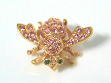 Joan Rivers Crystal BEE PIN Bug Brooch Pink Tourmaline Rhinestones October NWOB