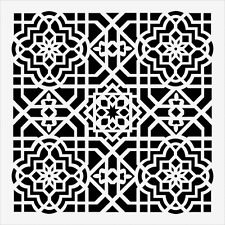 "MINI CEILING TILE STENCIL TEMPLATE STENCILS BACKGROUND PATTERN CRAFT NEW 6"" X 6"""