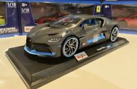 NEW Bugatti Divo 1:18 Scale Die-Cast Maisto Special Edition Grey w/blue Trim