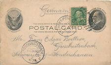 Postal Card, gelaufen USA Grossbreitenbach, 1903, (N)1506