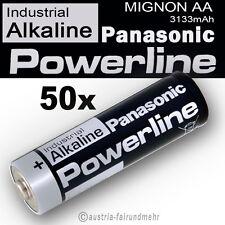 50x MIGNON AA LR6 MN1500 Batterie PANASONIC POWERLINE INDUSTRIAL