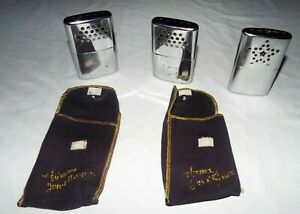 3 VINTAGE HAND WARMERS 2 JON-E WITH CLOTH CASES AND 1 HONG KONG WARMER READ!!