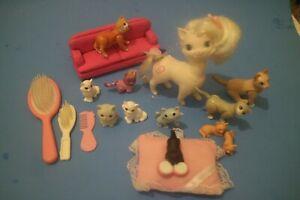 Mattel Barbie Doll Pretty Loving Pets White Hair Kitty Cat Hasbro Tonka Lot D