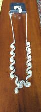 Beautiful Necklace And Earring Set Faux Pearl & Clear Diamante