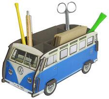 Stiftebecher Stiftebox Zettelbox VW-Bus Bulli T1 blau, Steckbausatz, Werkhaus