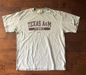 Vintage TEXAS A&M AGGIES Tennis Nike Team Issued Gray Practice Shirt - Mens L