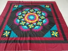 Machine Pieced Queen size Patchwork quilt top #J-126