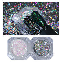 Holo Glitter Flakes Mixed Nail Sequins Paillette Hexagon Stripe BORN PRETTY