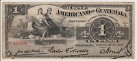 Guatemala 1 Peso 1917 PS111b aVF Banco Americano Rare Signature Type Note