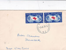 New Zealand 1959 Red Cross Commemoration FDC