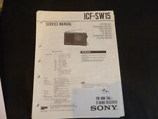 Original Service Manual sony ICF -SW15