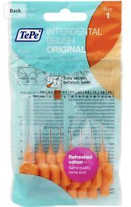 Tepe Interdental Brushes - Pack Of 8 - SMALL SIZE Orange 0.45mm Size 1 👄🦷