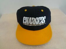 Vintage NFL San Diego Chargers Fitted Size 7 1/8 Hat 90s New Era Pro Model NWT