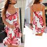 schönes mini Kleid Muster koralle weiß Gr.42 XL Strandkleid Sommerkleid Jersey