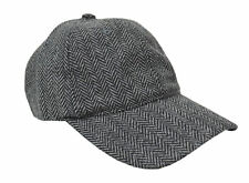 Brooks Brothers Gray Herringbone Striped Wool Blend Baseball Hat