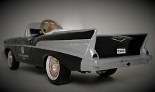 1957 Chevy Pedal Car Vintage BelAir Hot Rod Sport Custom Midget Metal Model Rare