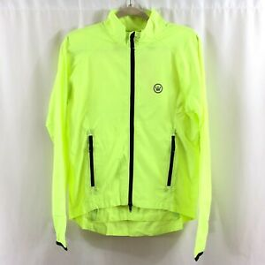 Canari Womens Breeze Shell Jacket Windbreaker Full Zip Pockets Yellow Size M