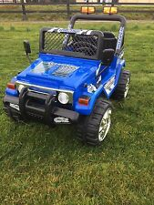 KIDS 12V RAPTOR ELECTRIC RIDE ON CAR 4X4 JEEP | 2-SEATER | REMOTE CONTROL | BLUE