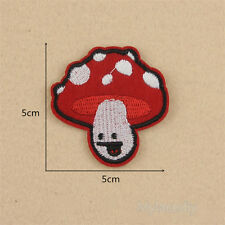 Mushroom Embroidery Sew Iron On Patch Badge Fabric Hat Bag Clothes Jean Applique