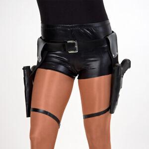Lara Croft Pistolengürtel mit 2 Taschen Gürtel Beinholster Pistolenhalfter SWAT