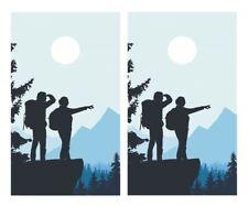 Couple Hiking Cornhole Board Vinyl Decal Wrap Sticker Skin Funny Joke
